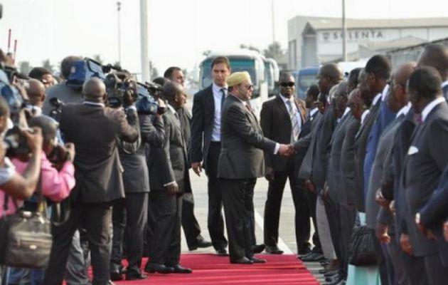Mohamed VI accueilli par Duncan et Soro a la place de Alassane Ouattara