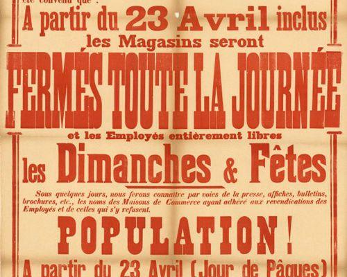 La loi de 1906 contre le travail du dimanche !