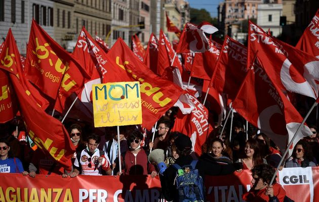 Italie: grande manifestation samedi dernier à Rome contre la casse du Code du du travail