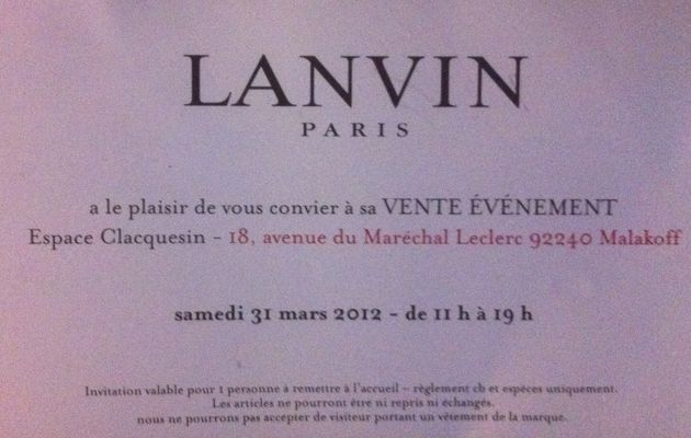 Attention, vente privée Lanvin en vue