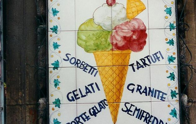 Glaces mania à Agrigente, Sicile, Italie