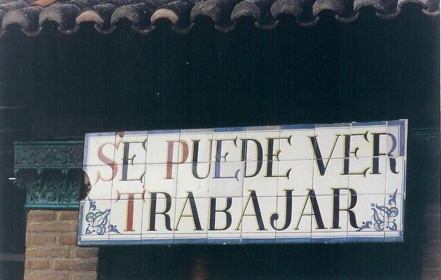 Atelier de azulejos, Tolède, Espagne