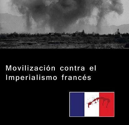 Les jeunes communistes mexicains ont manifesté symboliquement ce 14 juillet devant l'Ambassade de France pour protester contre la politique de l'impérialisme français en Afrique et ailleurs