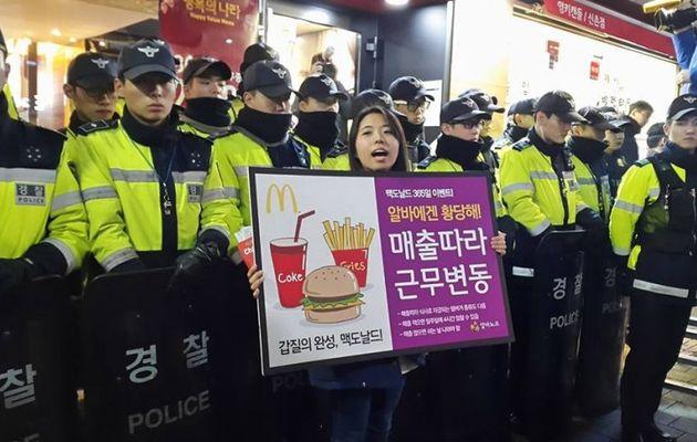 Les jeunes précaires se mobilisent en Corée du sud contre « Mc Do » et sa « culture de l'exploitation »