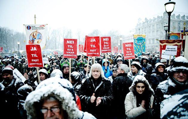 Grève nationale en Norvège contre la transposition d'une directive européenne de libéralisation du marché du travail