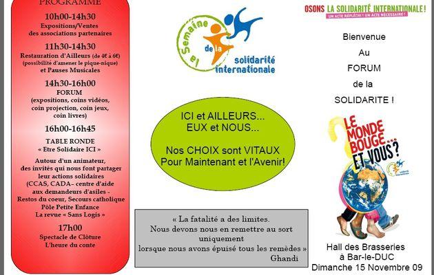 5 - Semaine de la Solidarité Internationale & Culture à Toulouse