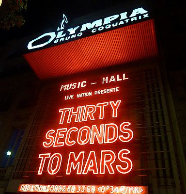 Concert – Thirty seconds to Mars à l'Olympia