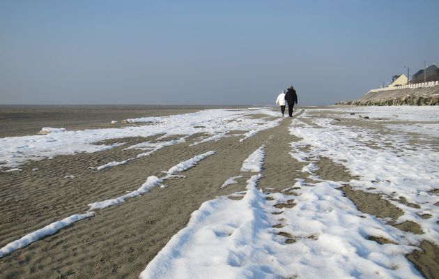 Soleil, neige et Baie de Somme