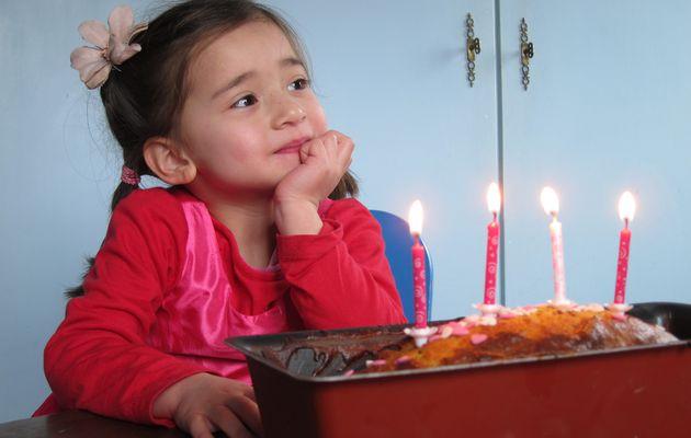 Clémentine en rose pour ses 4 ans