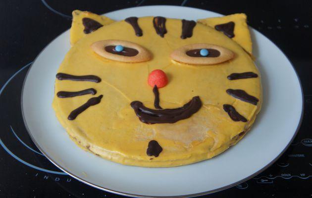 gateau tigre pour un anniversaire sur le thème des animaux