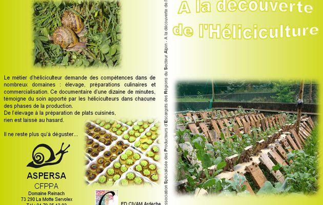 L'héliciculture en DVD