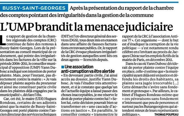 Revue de presse - Décembre 2012