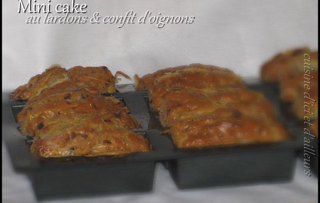 Mini cake aux lardons et confit d'oignon