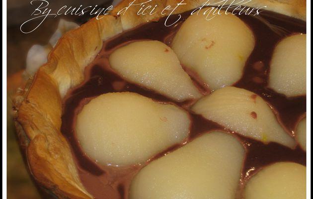 Tarte aux poires & chocolat au lait
