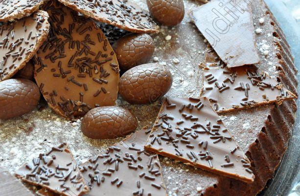 Fondant chocolat noisettes pour Pâques