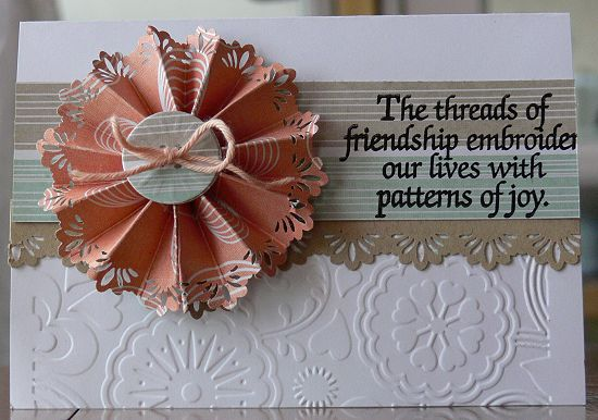 "Carte ""The threads of friendship"""