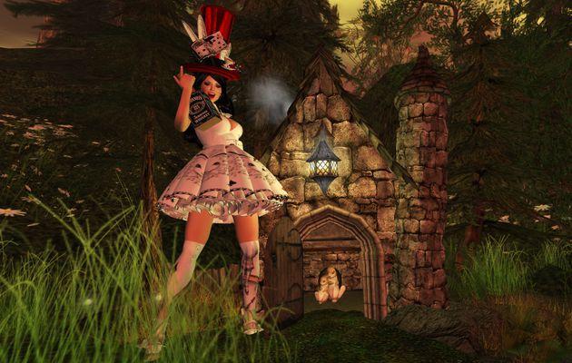 Fredylajoie imite Alice au pays merveilleux...