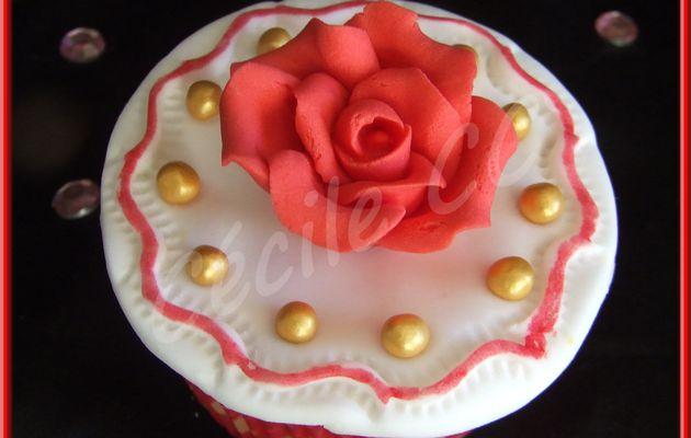 Tutoriel cupcake rose de la Saint-Valentin....