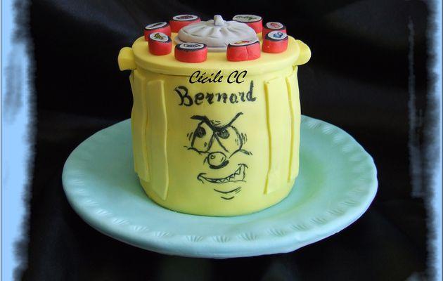 Un gâteau en forme de poubelle....
