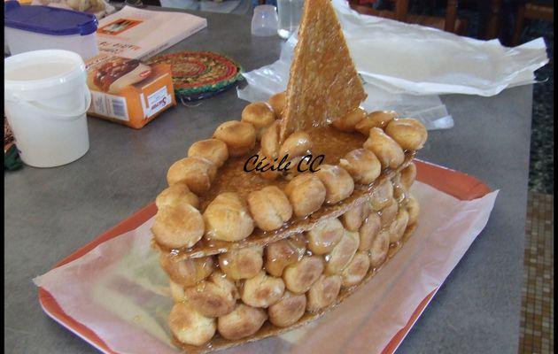 Gâteau de juillet et recette caramel d'enrobage des pièces montées...