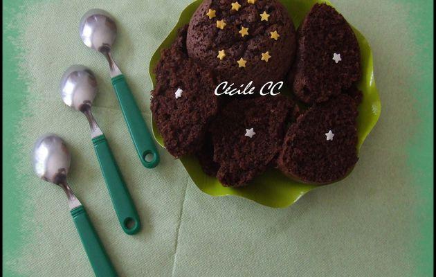 Recette du gâteau cacao-noix de coco...