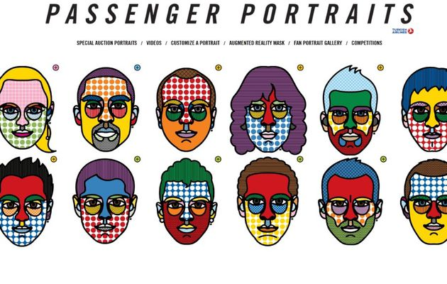 Craig Redman : portraits de passagers bien colorés pour la Turkish airlines