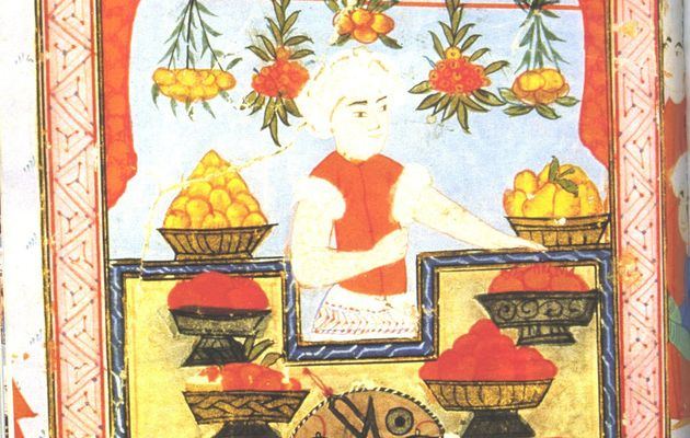 Rouge orangé couleurs du coing gourmand à la turque, Ayva Murabbasi