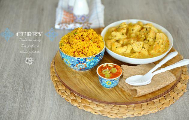 Curry, riz parfumé & sauce piquante {+ 1 surprise}
