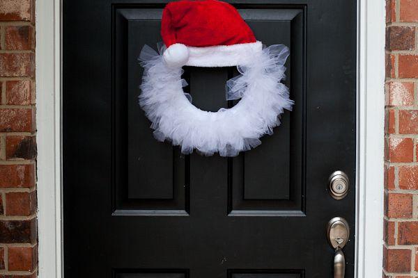 Pour changer de la traditionnelle couronne de porte de Noël !