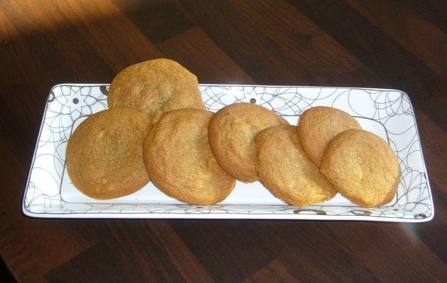 Cookies pâte d'amandes et pépites de chocolat blanc