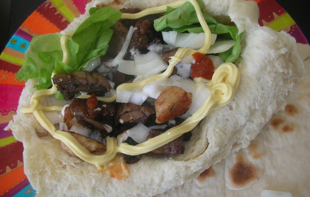 Sandwich facon Kebab/Chawarma