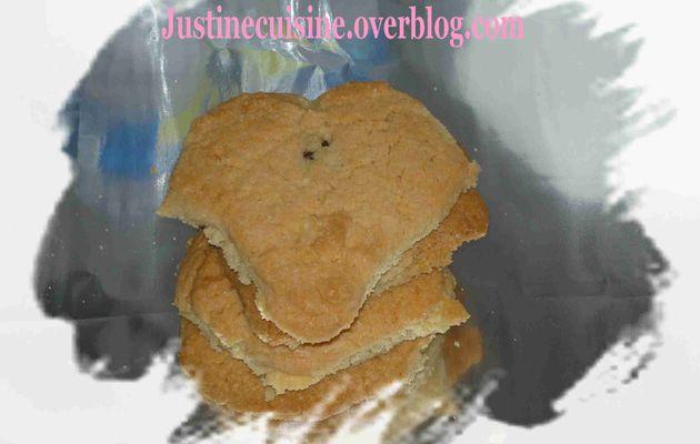 Cookie amande coeur chocolat
