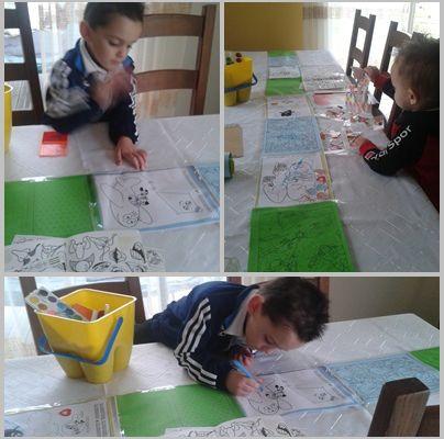 Décoration de table par les enfants