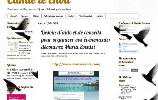 Article de la bloguesse Camie le Chou