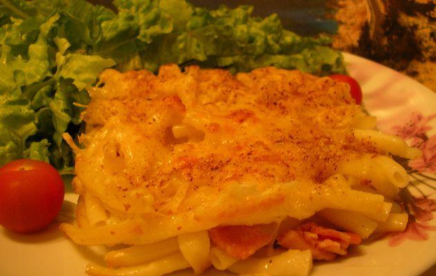gratin de macaroni et jambon