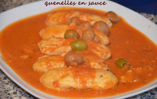 quenelles Lyonnaises en sauce tomate