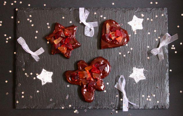 Sablés de Noël chocolat/cannelle/fruits confits