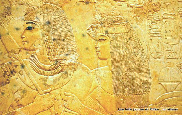 Temple d'Hatshepsout, un couple de notables