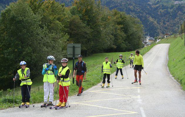Ski roue de Corbel aux Bruyères le 17/10/12