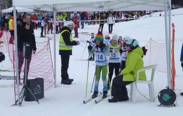 1° course officielle de ski de fond pour la section le 13/01/13