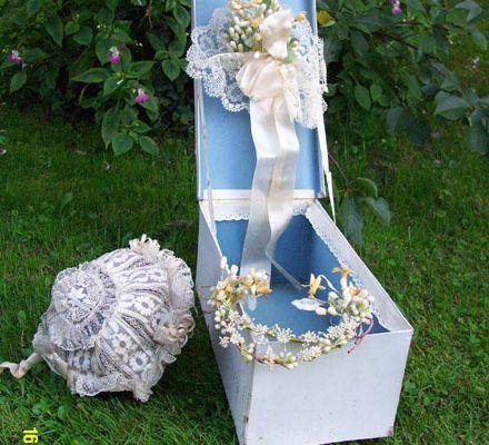 Diadème et bouquet de mariée