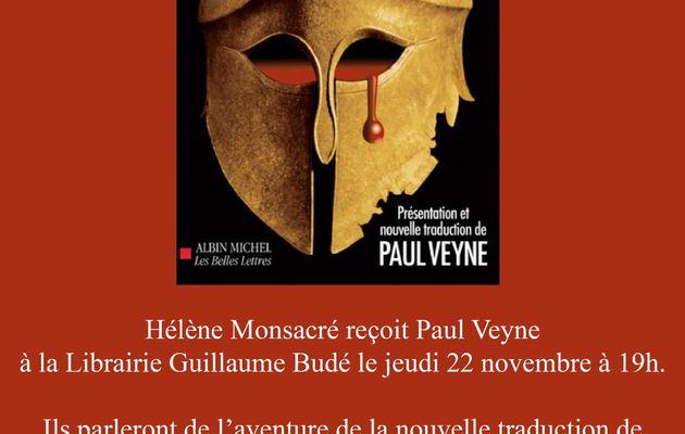 Soirée événement ! Paul Veyne et Hélène Monsacré présentent l'Enéide de Virgile le 22 novembre 2012