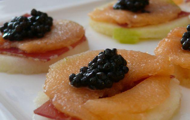 """recettes """"haute couture""""...Caviar en excellente compagnie"""
