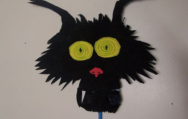 Tête de chat d'Halloween