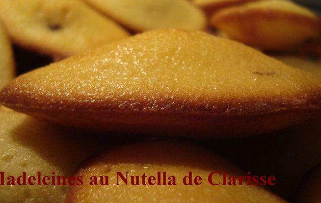 Les madeleines au Nutella de Clarisse.