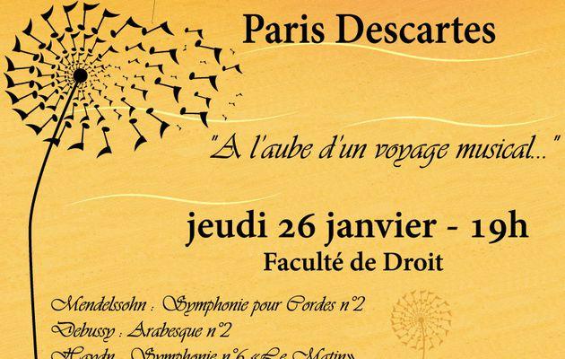 Concert de l'Orchestre Universitaire Paris Descartes : 26 janvier