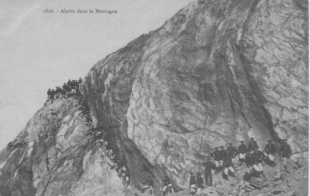 Les alpins à Moutiers (Avril 1918)