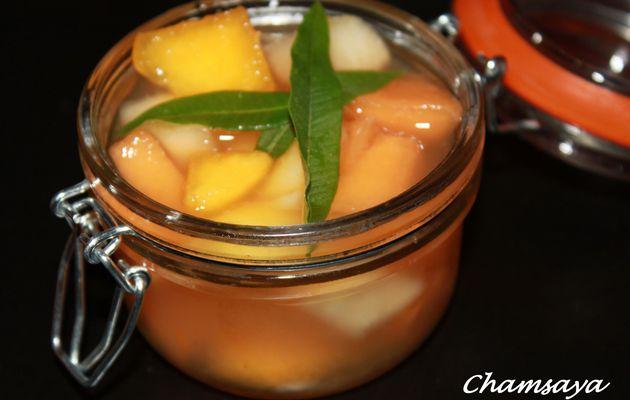 Soupe de fruits à la verveine