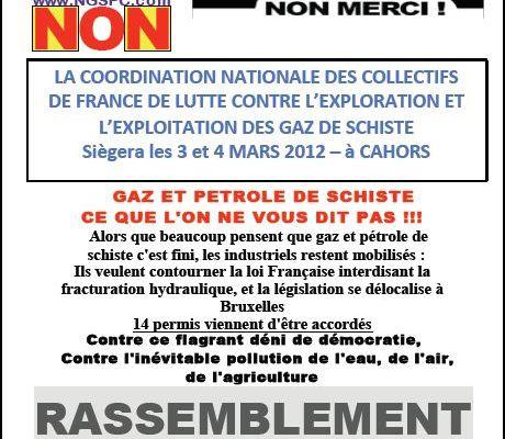 CAHORS: Rassemblement le 3 mars et coordination nationale des collectifs