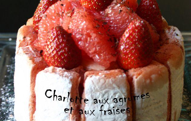Recette n°70 : Charlotte aux agrumes et aux fraises